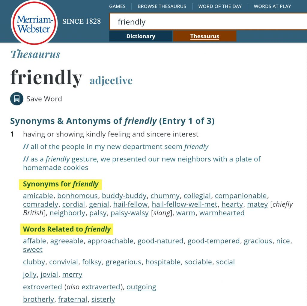 Synonyms-Dictionary